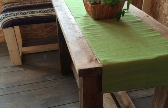 手作りベンチ・テーブル作成_2
